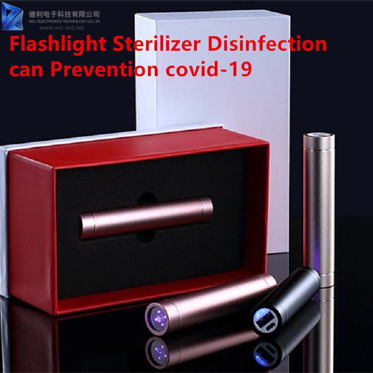 Flashlight Sterilizer Disinfection UVC LED Lamp Ultra Violet Torch Portable Power Bank